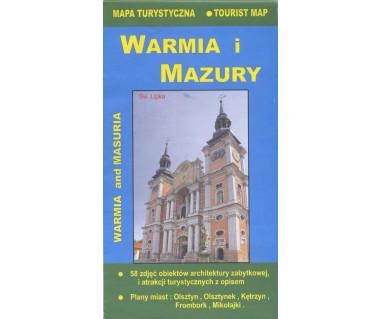 Warmia i Mazury mapa turystyczna