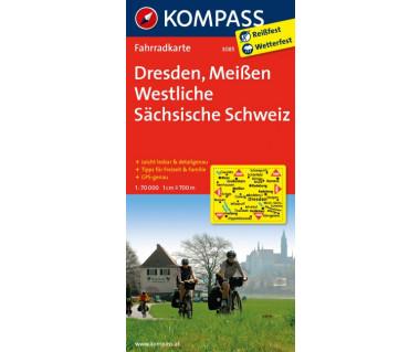 K 3085 Dresden, Meissen, Westliche Sachsische Schweiz