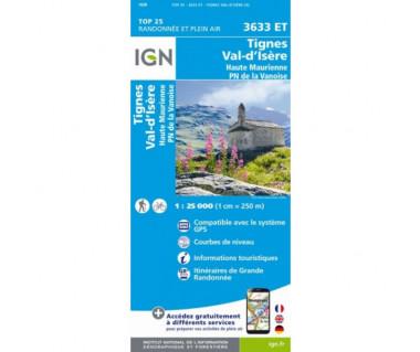 IGN 3633 ET Tignes / Val d'Isere / Haute Maurienne / PN de la Vanoise