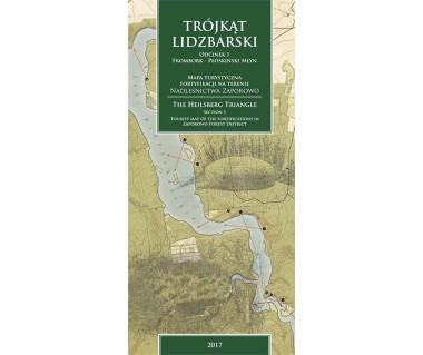 Trójkąt Lidzbarski mapa turystyczna fortyfikacji na terenie Nadleśnictwa Zaporowo