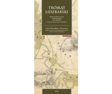 Trójkąt Lidzbarski mapa turystyczna fortyfikacji na terenie Nadleśnictwa Orneta