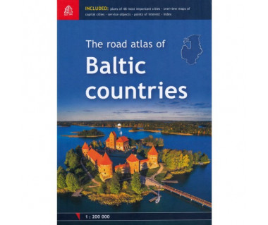 The road atlas of Baltic countries