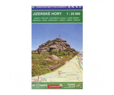 Jizerske Hory. Mapa turystyczna 1:25 000