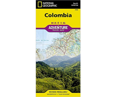 Colombia adventure travel map