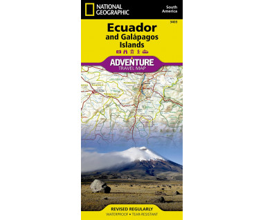 Ecuador and Galapagos Islands adventure travel map