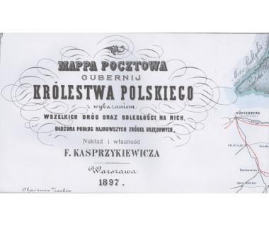 Mappa pocztowa gubernij Królestwa Polskiego