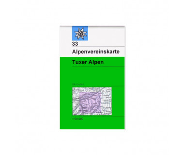 Tuxer Alpen - Mapa