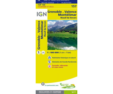 IGN100 157 R Grenoble, Montelimar