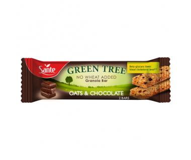 Baton granola Green Tree owsiany z czekoladą 40g