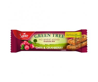 Baton granola Green Tree owsiany z żurawiną 40g