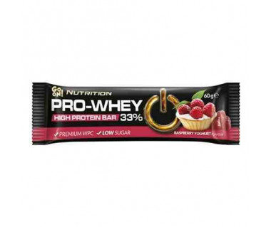 Baton GO ON! Nutrition Pro-Whey 33% Raspberry Yoghurt 60g