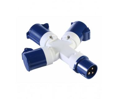 Kabel kempingowy Voltaic z rozgałęziaczem (trzy gniazda UK)