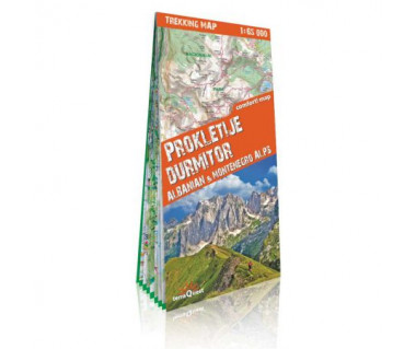 Prokletije, Durmitor, Albanian & Montenegro Alps trekking map
