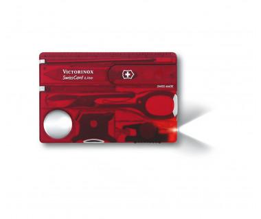 Scyzoryk 0.7300.T SwissCard Lite red
