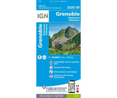 IGN 3335OT Grenoble, Chamrousse, Belledonne
