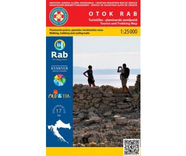 Otok Rab (wyspa Rab) tourist and trekking map