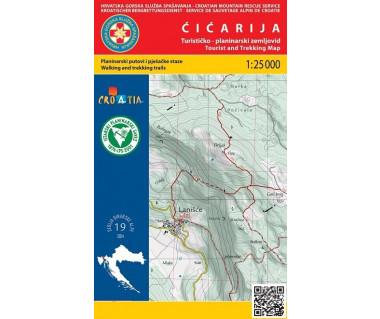 Cicarija tourist and trekking map