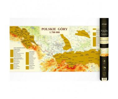 Polskie Góry mapa zdrapka