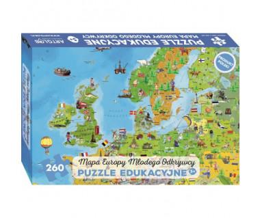 Puzzle Mapa Europy młodego odkrywcy