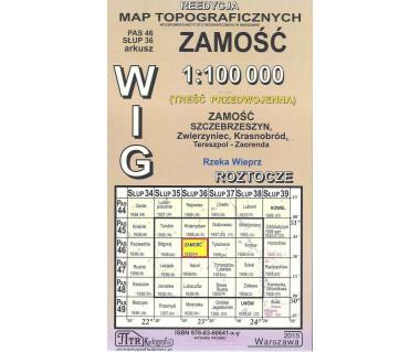 WIG 46/36 Zamość (plansza) reedycja z 1936 r.