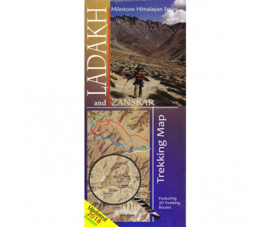 Ladakh and Zanskar trekking map