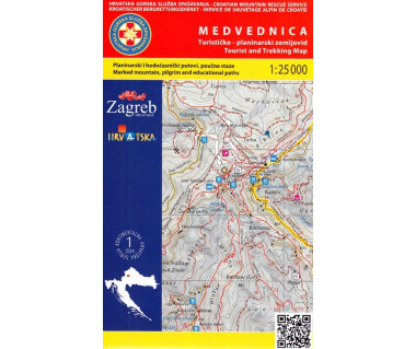 Medvednica tourist and trekking map
