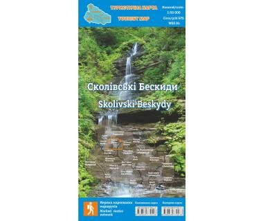 Beskidy Skolskie/Skolivski Beskydy mapa laminowana