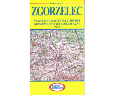 Zgorzelec mapa operacyjna ark. 62 reedycja WIG 1935 r.