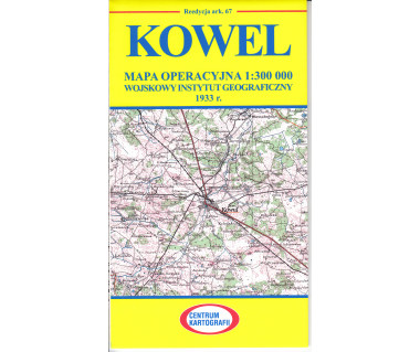Kowel mapa operacyjna ark. 67 reedycja WIG 1933 r.