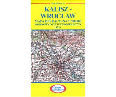 Kalisz - Wrocław mapa operacyjna ark. 63 reedycja WIG 1935 r.