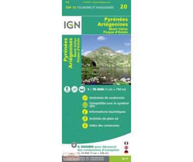 IGN 75020 Pyrenees Ariegeoises / Mont Valier / Picque d'Estats