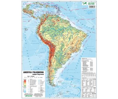 Ameryka Pd. mapa fizyczno-polityczna podręczna laminowana