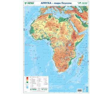 Afryka mapa fizyczno-polityczna podręczna laminowana