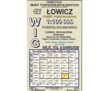 WIG 40/30 Łowicz (plansza) reedycja z 1934 r.