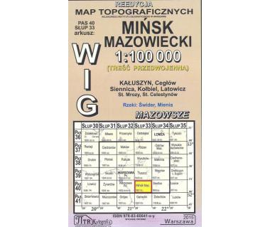 WIG 40/33 Mińsk Mazowiecki (plansza) reedycja z 1937 r.