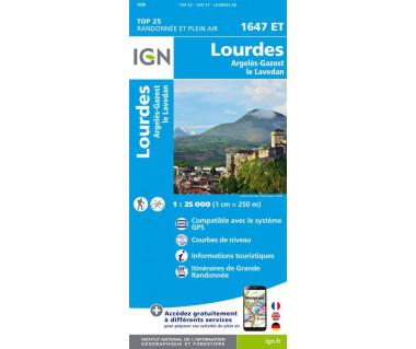 IGN 1647 ET Lourdes / Argeles-Gazost / le Lavedan