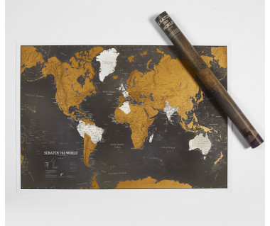 Scratch the World Black Edition (mapa zdrapka) 84,1x59,4 cm