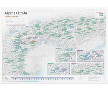Alpine Climbs Collect & Scratch (mapa zdrapka)