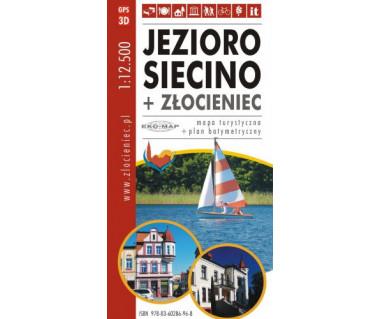 Jezioro Siecino + Złocieniec - mapa turystyczna i plan batymetryczny
