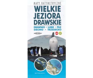 Wielkie Jeziora Drawskie - mapy batymetryczne