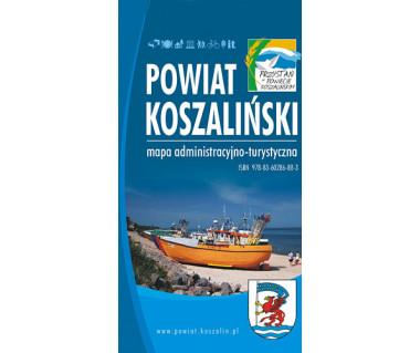 Powiat koszaliński - mapa administracyjno-turystyczna