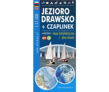 Jezioro Drawsko + Czaplinek - mapa barymetryczna i plan miasta