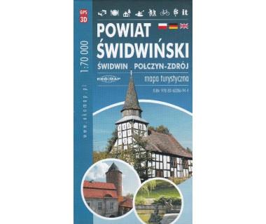 Powiat świdwiński (Świdwin, Połczyn Zdrój) - mapa turystyczna