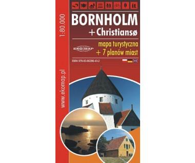 Bornholm + Christianso - mapa turystyczna + 7 planów miast