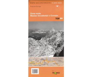 Picos de Europa. Zona norte, Macizo Occidental o Cornion