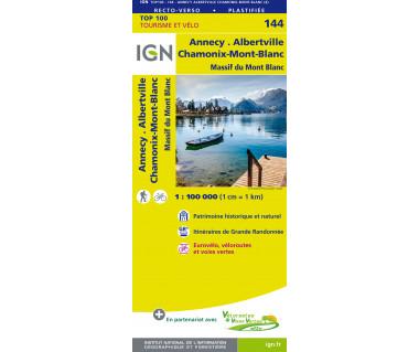 IGN100 144 Annecy / Thonon-les-Bains / Massif du Mont-Blanc