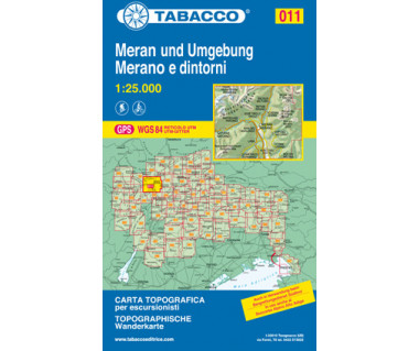 TAB011 Merano e Dintorni,Meran und Umgebung
