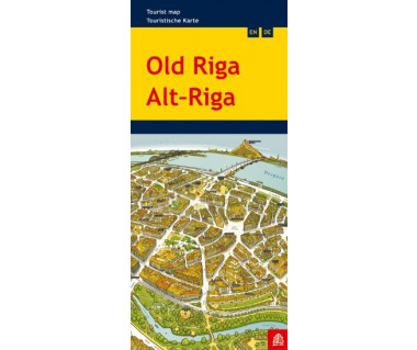 Old Riga tourist map