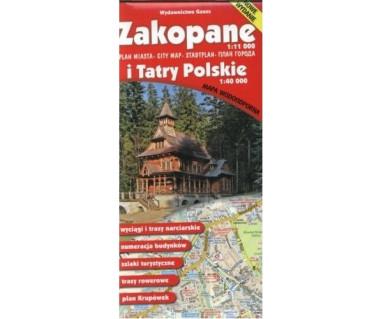 Zakopane i Tatry Polskie mapa wodoodporna