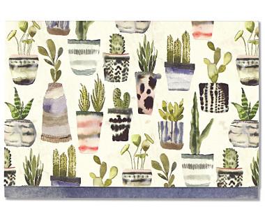 Kartka mini Watercolor Succulents